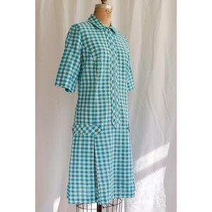 Vintage 1960s Gingham MOD Dress